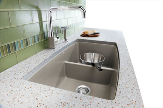 new blanco performa silgranit kitchen sink in four natural