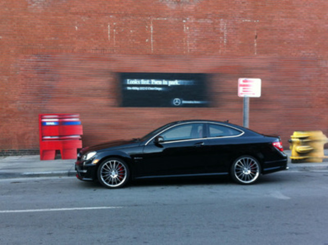 Mercedes benz canada launches attention grabbing stunt in for Mercedes benz canda