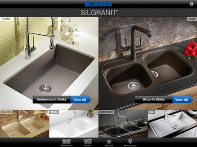 New app helps consumers select kitchen sink and countertop for Silgranit countertops