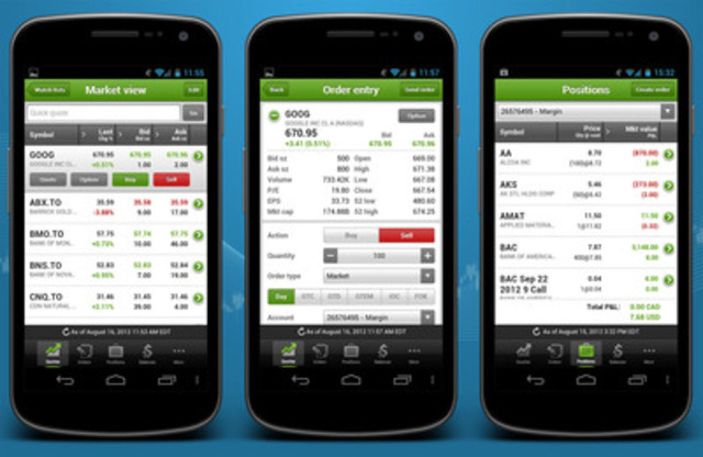 Questrade releases mobile trading app