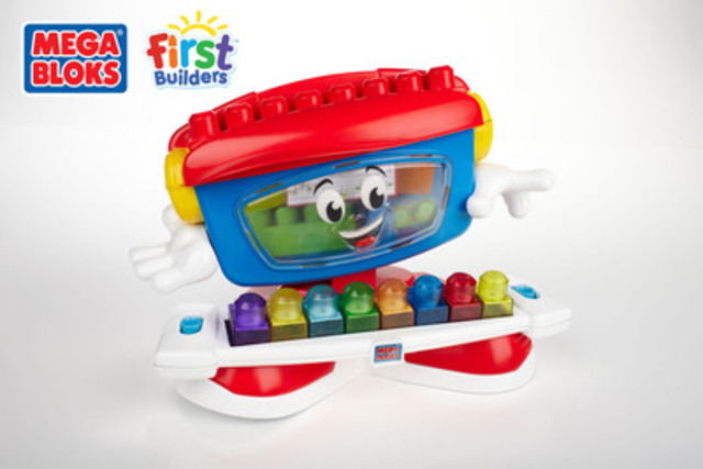 Cnw meet the dancing piano from mega bloks first builders for Builders first