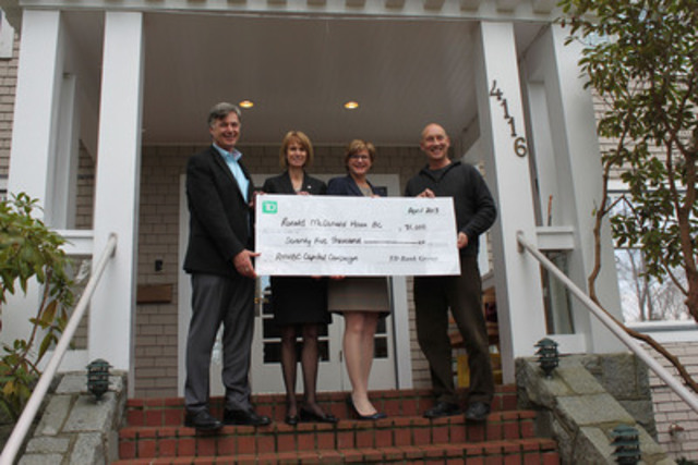 Cnw td donates 75 000 to ronald mcdonald house bc for Build a house for 75000