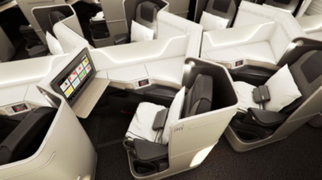 Air canada pr sente l 39 am nagement cabine des nouveaux for Interieur avion air canada