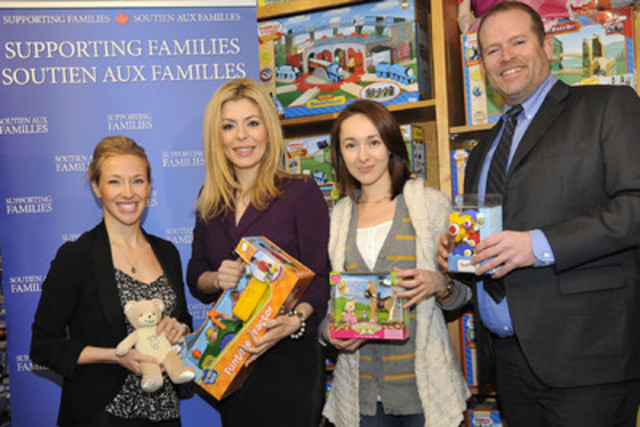 Left to right: RCC's VP Federal Government Relations, Susie Grynol, Parliamentary Secretary, Eve Adams, Christina Burkhill, Store Manager and Jason McLinton, Senior Director, Public Affairs. Photo Credit: Denis Drever (CNW Group/Retail Council of Canada)