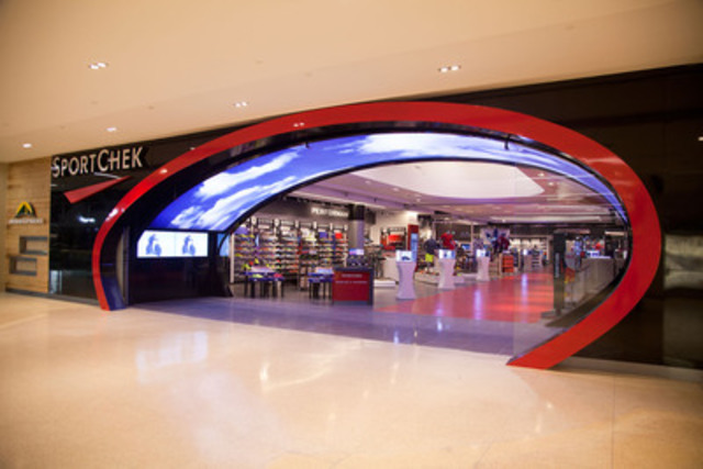 cnw sport chek 39 s first flagship store introduces new digital era in experiential retail at. Black Bedroom Furniture Sets. Home Design Ideas