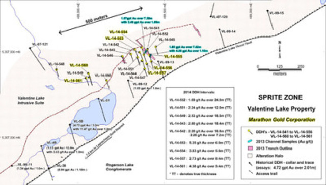 Marathon Drilling Expands the Sprite Zone with High-Grade, Near