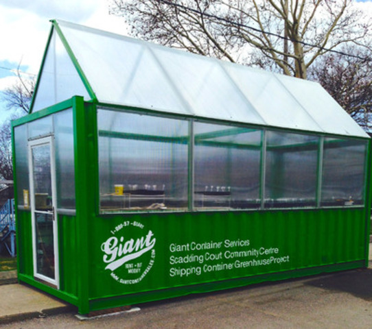 Cnw canada 39 s first shipping container greenhouse comes alive - Container homes toronto ...