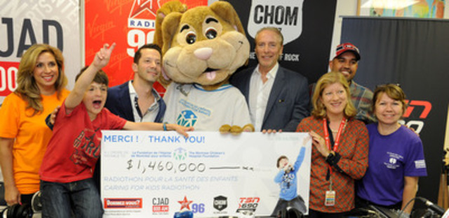The Caring for Kids Radiothon, aired on CJAD, Virgin Radio