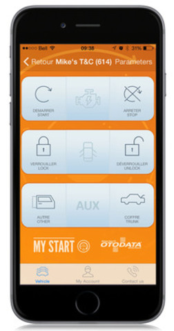 cnw free my start app starts car from smartphone. Black Bedroom Furniture Sets. Home Design Ideas