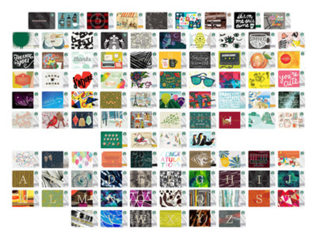 Starbucks Gift Card Designs