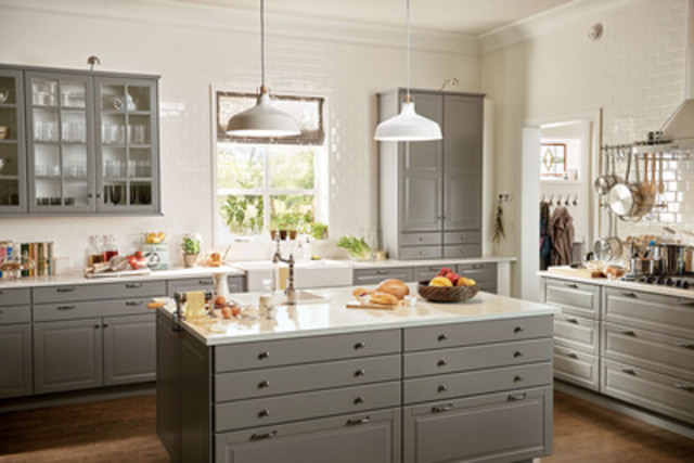 Cnw ikea canada introduces new kitchen system - Ikea cuisine faktum abstrakt gris ...