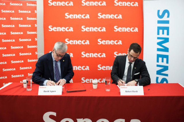 Seneca Partners With Global Technology Leader Siemens To Expand Opportunities For Students