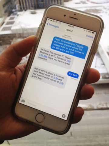 Text us: TD the first major bank in Canada to offer SMS customer ...