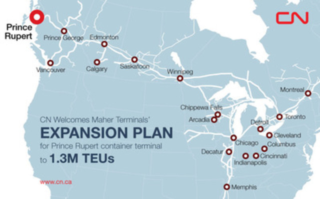 CN welcomes Maher Terminals' expansion plan for Prince Rupert, B.C., container ...