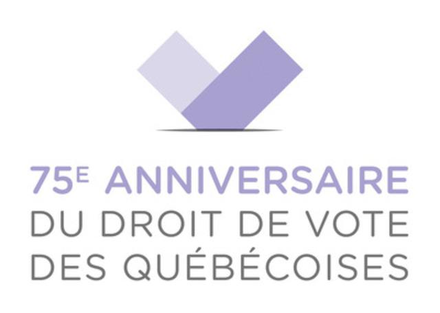 75e anniversaire du droit de vote des femmes au qu bec le dgeq lance un site web et un logo. Black Bedroom Furniture Sets. Home Design Ideas