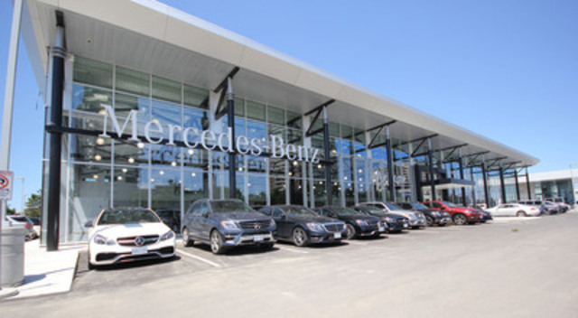 Cnw new mercedes benz thornhill flagship retail facility for Mercedes benz dealers in ontario