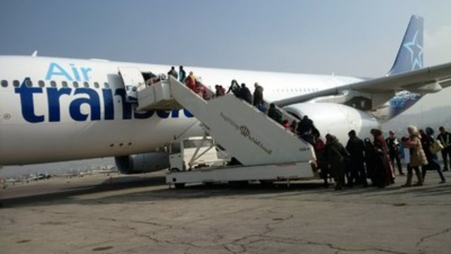 air transat transporte 207 r 233 fugi 233 s syriens vers le canada
