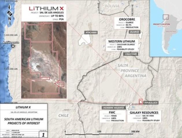 Lithium X Acquires Large High Grade Lithium Brine Project