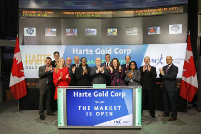 Harte Gold Corp  Opens the Market