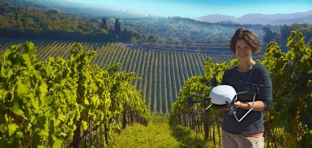 SkySquirrel has worked for the past three years with partners in Canada (photo), California, France and Chile to develop its drone-based imaging technology for detecting disease in vineyards.