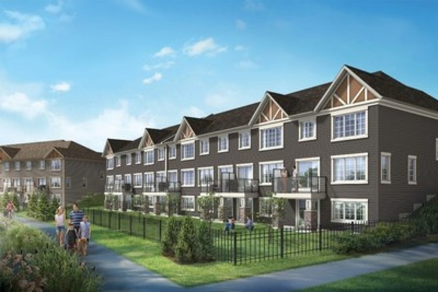 Mattamy homes brings new townhome architectural style to for House plans alberta