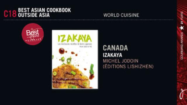 Un qu b cois remporte le prix du meilleur livre de cuisine - Livre de cuisine asiatique ...