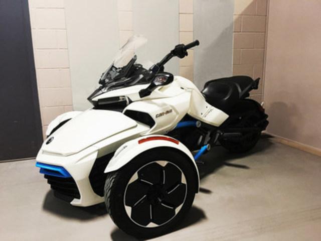 Image with caption the centre de technologies avanc es brp universit de sherbrooke cta presents its can am spyder electric concept vehicle