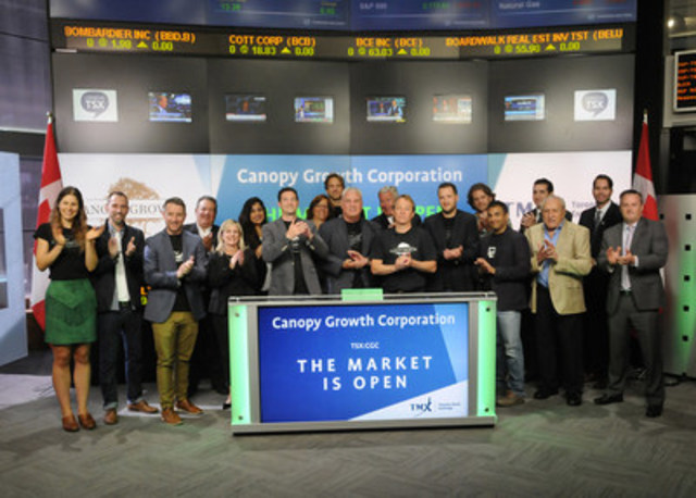 Canopy Growth Corporation graduated from TSX Venture Exchange and commenced trading on Toronto Stock Exchange on July 26 2016. & Canopy Growth Corporation Opens the Market