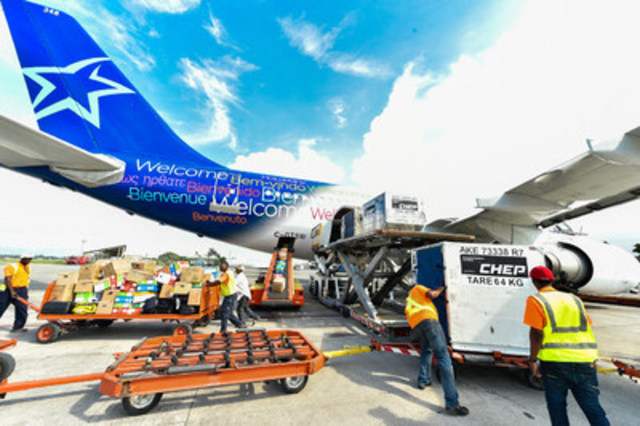 air transat and food for the poor canada join forces for haiti emergency relief flight